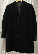 "HUGO BOSS Men's ""Stratus"" Coat Size 48 Topcoat Black Wool-Cashmere Outerwear"