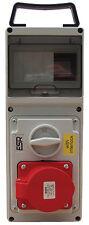 ESR con interruttore RCD Presa di interblocco IP44 16A 5 pin 380V - 415V