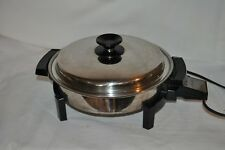 "11"" Stainless Steel WEST BEND 17884 LIQUID CORE ELECTRIC FRY PAN SKILLET USA"