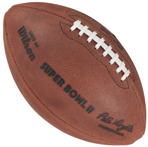 SUPER BOWL II 2 Authentic Wilson NFL Game Football - GREEN BAY PACKERS