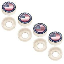 4 Chrome Custom License Plate Frame Screw Snap Caps Covers Smith & Wesson