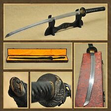 Musashi Iguru Eagle Functional Hand Forged Samurai Katana Sword + Case Stand Bag