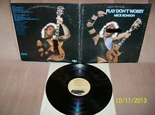 MICK RONSON Play Dont Worry 1975 RCA Promo GF LP APL1-0681 EXC David Bowie