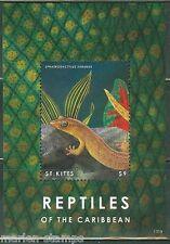 ST. KITTS 2014 REPTILES OF THE CARIBBEAN SOUVENIR SHEET MINT NH
