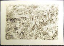 Lucien P. Moretti, #13 P. 184, SN Un Sac de Billes b&w original lithograph art