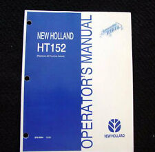 New Holland Ht154 Wheel Rake Operators Manual Mint Shape