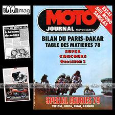 MOTO JOURNAL N°396-b ★ SANGLAS 500 S2 ★ NVT RAMBLER 125 RALLYE PARIS-DAKAR '79