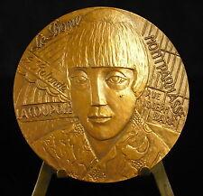 Médaille Painter peintre franco-polonais Moïse Kisling fc Torcheux 68mm Medal 铜牌