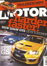 Motor Nov 09 HSV E2 GTS Clubsport Maloo Senator FPV FG GS XR6 SV6 Liberty GT