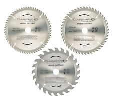 Classicpro TCT 165mm x 20mm 24T 48T 60T Circular Saw Blade Pack of 3