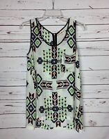 Altar'd State Women's Sz XS Extra Small Black White Cute Summer Top Blouse Tank