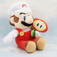Super Mario Bros. Plush Fire Mario with flower Soft Toy Stuffed Animal Doll 7in