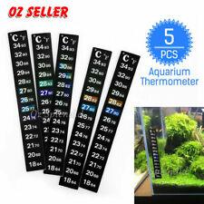 5x Aquarium Thermometer Sticker Temperature Strip Dual Scale External Stick On