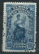 Canada #YL9(10) PERFIN 1903 50 cent blue YUKON LAW - TERRITORIAL COURT CV$5.00