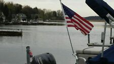Removable Pontoon Boat Rail Flag Pole Mount/ Holder,  HOLDS FULL SIZE FLAG POLE!