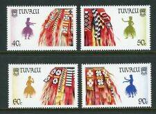 Tuvalu Scott #515-518 MNH Palm-Frond Skirts Dancers MUSIC CV$4+