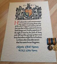 More details for royal navy memorial scroll