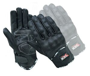 Vented Leather Motorbike Motorcycle Gloves Knuckle Shell Protection Summer UK