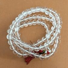 Plane Glossy Finish Glass Beads 8 MM Round Color White 108 Beads In one Length