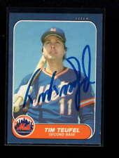 1986 FLEER #U-110 TIM TEUFEL AUTHENTIC CARD AUTOGRAPH SIGNATURE AX6190