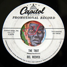 HEAR Del Reeves 45 The Trot/Cool Drool CAPITOL promo rockabilly bopper rocker
