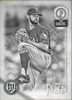 2018 Topps Gypsy Queen Black and White #32 Martin Perez 9/50 Rangers