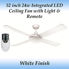 Rotor 52 inch LED White Ceiling Fan with 24 Watt LED Cool White Light & Remote