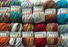 NAVAJO RANDOM DYE CHUNKY HAND KNITTING WOOL/YARN  1 X 100grm VARIOUS COLOURS