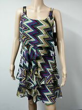 NEW - Signature by Robbie Bee Sleeveless Tiered Dress - Size 6P Multicolored $79
