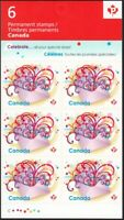 CELEBRATION IN THE MAIL = booklet of 6  = Canada 2009 #2314a (BK400) MNH VF