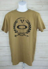 NWT Quicksilver Mens Beige Short Sleeve T shirt Graphic Logo Size Large NEW