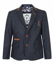 Kids Blazer Smart Formal Tweed Childrens Boys Dinner Jacket Lined Ages 1 - 15