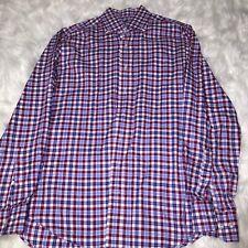 Cafe Coton Checkered Cotton Dress Shirt Exclusive Sz:L