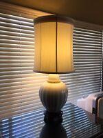"Vintage Marbro White Porcelain Ginger Jar Table Lamp, 43"" Tall x 13"" Widest"