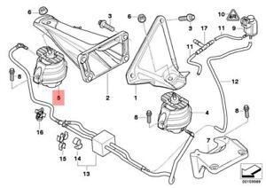 Genuine BMW Engine Mount Right E60 E61 E63 E64 525d 530d 535d 22116774620