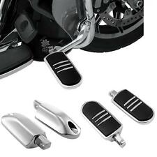 1Pair Metal Streamliner Highway Foot Pegs Footrest for Harley Touring Softail