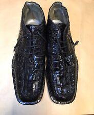 Mauri Genuine Crocodile BLACK Men's Shoes Size 9 M ITALY. ORIGINAL DESIGN