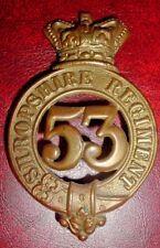 CAP BADGES-ORIGINAL VICTORIAN 1874-1881 GLENGARRY BADGE 53rd SHROPSHIRE REGT