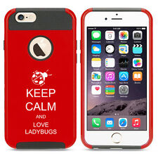 For iPhone SE 5 5s 6 6s 7 Plus Shockproof Hard Case Keep Calm Love Ladybugs
