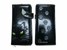 Nemesis Now Lucky Cat Black Long Ladies Purse Wallet Feline Paw Print Gift Xmas