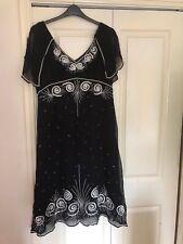 Wallis black embellished dress S18