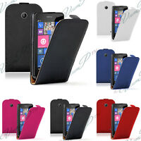 Etui Coque Housse PU Vrai Cuir Rabat Haute Qualite Nokia Lumia 630/ 635/ 638