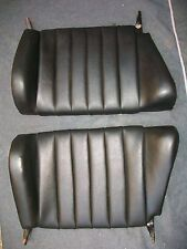 NICE PAIR OF USED ORIGINAL PORSCHE 911 912 REAR SEAT BACKS BLACK LEATHERETTE