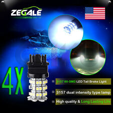 4X 3157 3057 3457 4157 3047 White 60 SMD Daytime Tail Brake Stop LED Lights Bulb