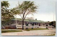 Chicago Illinois~New Pavilion in Garfield Park~Flower Beds in Front~c1910