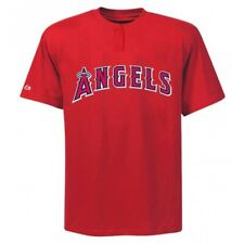 Majestic 2-Button Los Angeles Angels Replica Adult Jersey 50/50 Blend SZ S (R30)