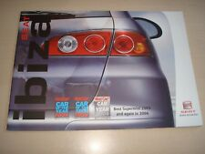 SEAT IBIZA UK SALES BROCHURE MARCH 2004 NEW, OLD STOCK