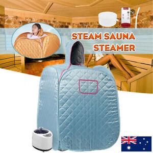 1KW 2.68L Portable Steam Sauna Tent Home Spa Body Skin Slim Loss Weight Steamer