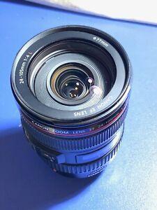 Canon EF 24-105 mm F/4.0 IS L USM Lens EOS-Refurbished