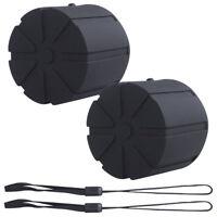 Silicone Universal Lens Cap Fits 60-110mm DSLR Lenses Scratch Proof Cap 2 Packs